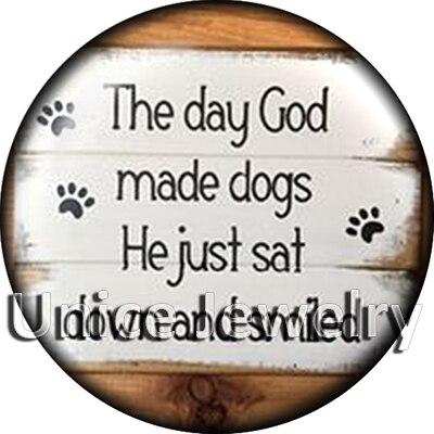 Ad1304645 12/18/20 мм кнопки на Талисманы для браслет Цепочки и ожерелья Лидер продаж DIY Выводы Стекло кнопки собака символ дизайн