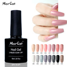 MorCat UV Gel Nail Polish Nude Varnish Winter Hot Colors DIY French Art Design