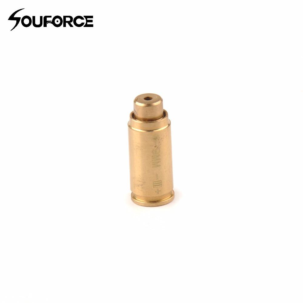 US CAL 9mm Red Dot laser Bore Sight Calibrator Cartridge Boresighter+Battery
