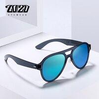 20/20 Marka Vintage Stil Tek Parça Polarize Unisex Güneş Gözlüğü Erkek Sürüş Güneş Gözlük Kadın Ayna Gözlük Gafas PC1612