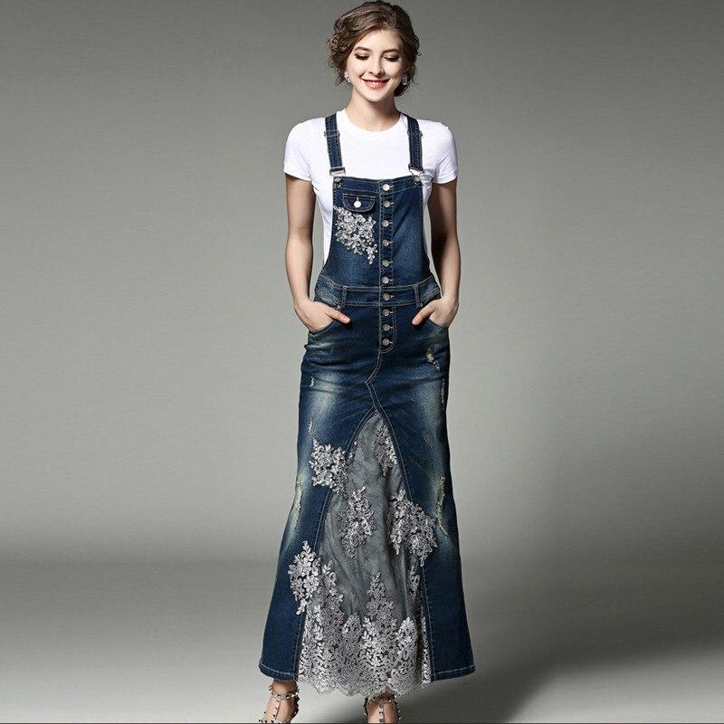 Bailansi 高品質の女性の O ネック半袖 Tシャツ + スパンコールビーズボタン穴弾性デニムロングスカートツーピースセット  グループ上の レディース衣服 からの レディースセット の中 1