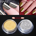 HNM 2pcs Mirror Powder Gold Silver Pigment Nail Glitter Nail Art Chrome Effect Magic Powder For Nail Gel Polish Decoration