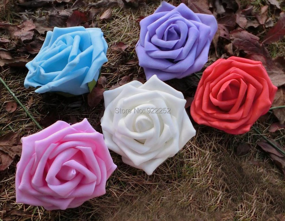 Lacoste Ling Wedding Wedding Projects 6 Head Table: 7CM Artificial Floral Foam Eva Roses Bouquet,diy Craft
