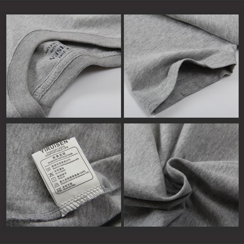 2018 Hot Πώληση YiRuiSen Μάρκα 100% βαμβάκι T-shirt - Ανδρικός ρουχισμός - Φωτογραφία 4