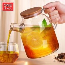 Kreative Glas Wasser Topf BPA FREI Tee Glas Wasserflasche mit Bambus Cap Edelstahl Glas Wasserkocher Becher Tee flasche