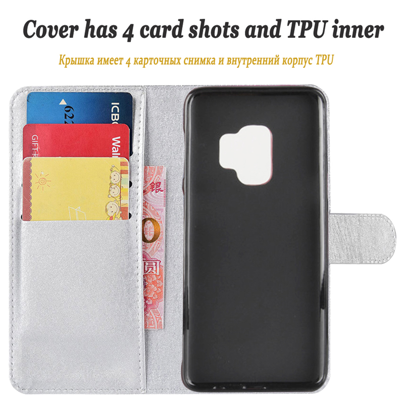 Image 5 - 1Dneilacc Luxury Cute Leather Case For Samsung S9 Plus S9 S9Plus Case Flip Cover Wallet Holster Phone Case Bag-in Wallet Cases from Cellphones & Telecommunications