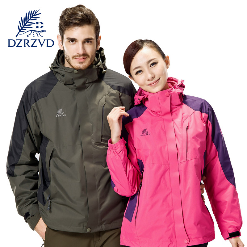 DZRZVD New outdoor winter mountaineering camping two suit suit and waterproof warm outdoor clothing couple hiking hunting coat new original vh 8yr plc 24vdc relay 8 point expansion module