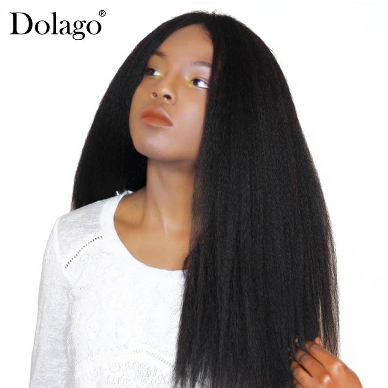 Kinky Straight Hair Brazilian Hair Weave Bundles Coarse Yaki 100% Human Hair Bundles Dolago Hair Products Remy Extensions
