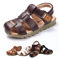 2016 Hot Selling Children Sandals Boys Shoes Baby High Quality Soft Slip-resistant Shoes Casual Beach Leather Sandals
