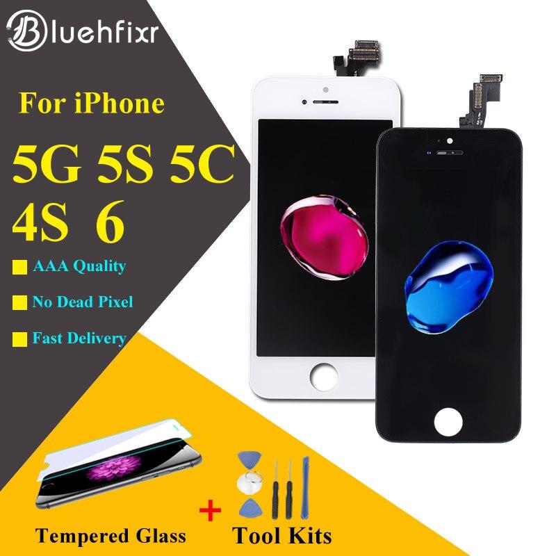 AAA +++ Qualität Für iPhone 5 s LCD 4 s 5 5C SE Screen Display für iPhone 6 LCD Digitizer touch Screen mit Geschenke Werkzeuge + Glas film