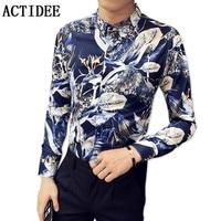 2018 Britse vogel digital print bloem shirts mannen bloemen casual mode shirts 95% polyester spandex type 5% P55