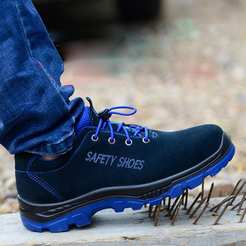 Safety Shoes Men Women Breathable Steel Toe Puncture Proof Midsole Slip Resistance Outdoor Light Weight Ankle Work Boot
