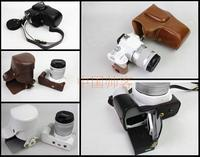 New Luxury PU Leather Camera Case Bag For Canon EOS 200D Camera Cover With Strap Mini Pouch Removable Battery Design