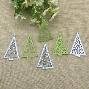 Image 2 - Christmas tree Cutout Metal Cutting Dies Stencils Die Cut for DIY Scrapbooking Album Paper Card Embossing
