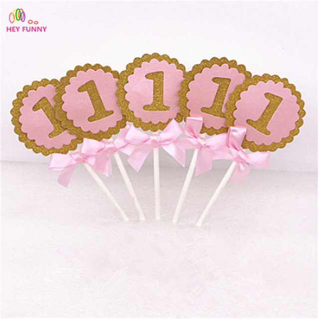 Number 1 Cupcake Toppers Picks for Baby Shower boy or girl 1st