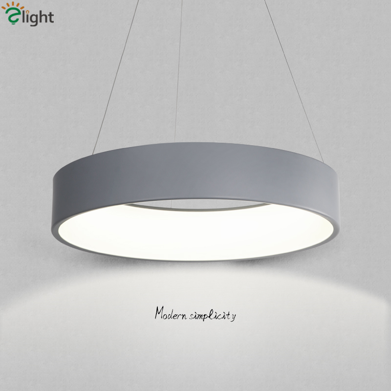 Modern Led Luminaire Pendant Light For Dining Room Round Circle Lustre Hanging Lamp Led Suspension Lamp Indoor Fixtures Lamparas iwhd led pendant light modern creative glass bedroom hanging lamp dining room suspension luminaire home lighting fixtures lustre