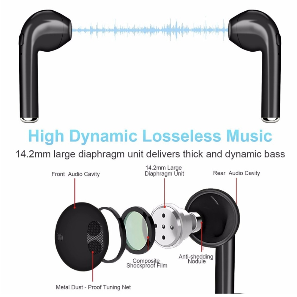 I7S Wireless Bluetooth HIFI Wireless Earphones With Charging Box Case Auriculares Inalambrico