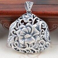 zuyin s990 الغزلان الملك العتيقة والمجوهرات بالجملة فضة اليدوية الفاوانيا نمط الرجعية سترة سلسلة