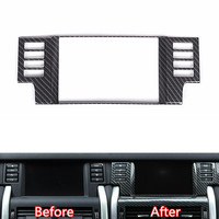 Carbon Fiber Black ABS Car Navigation GPS Panel Decoration Frame Sequins Styling Sticker For Land Rover
