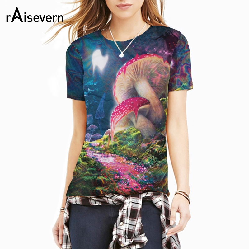US $9 06 16% OFF|Raisevern New Bad Trip T Shirt 3D Print A Psychedelic  Vision Of Melting Mushroom T Shirt Fashion Summer 3d Clothing Top  Dropship-in