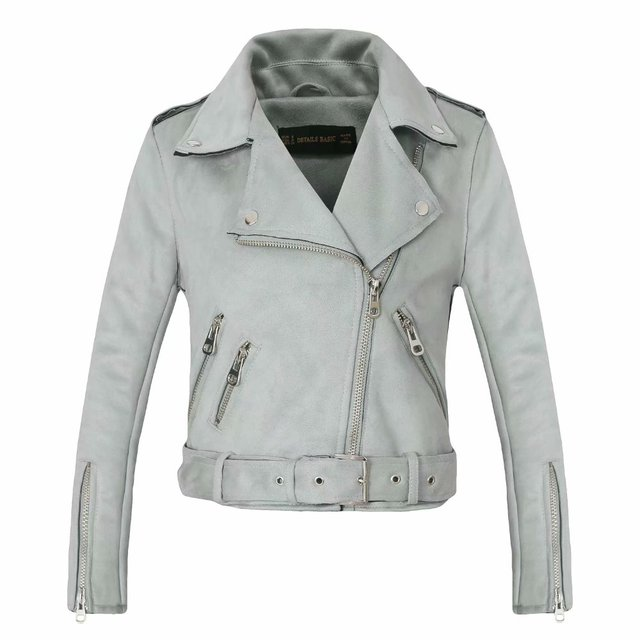 ea6b38cf2a39 Fashion mandarin collar womens jackets black pink blue leather clothing  slim motorcycle leather jacket women outerwear coats