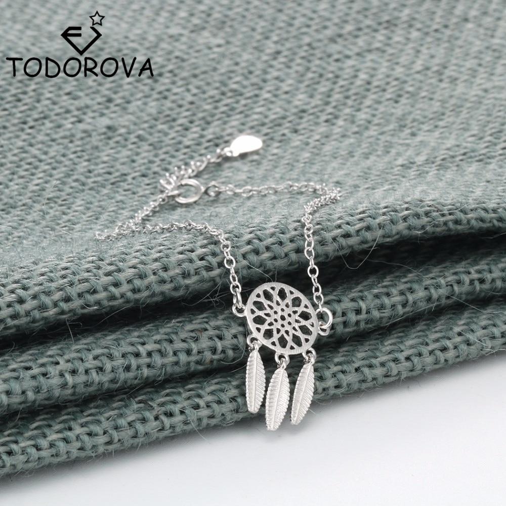 Fashion womens Boho Feather Tassel Dream Catcher Chain Link Bracelet  Jewelry