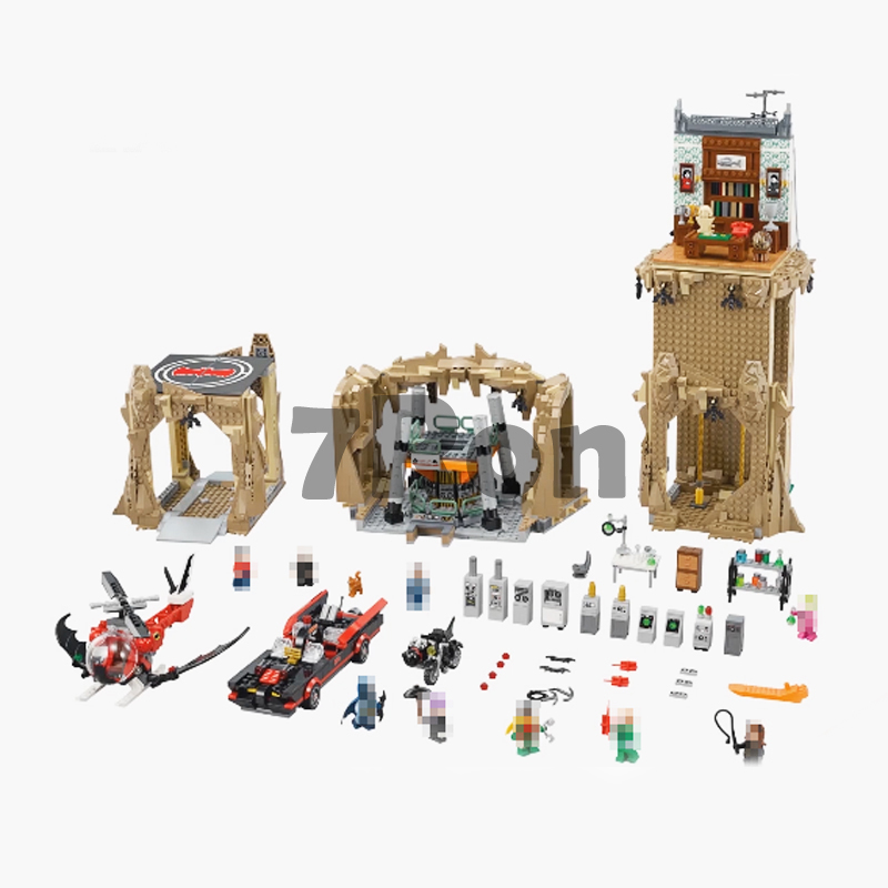 Models building toy 07053 DC Batman Super Heroes Batcave Building Blocks Compatible with lego super hero 76052 toys & hobbies 2566pcs genuine dc batman super heroes moc batcave educational building blocks bricks toys gift for children 76052