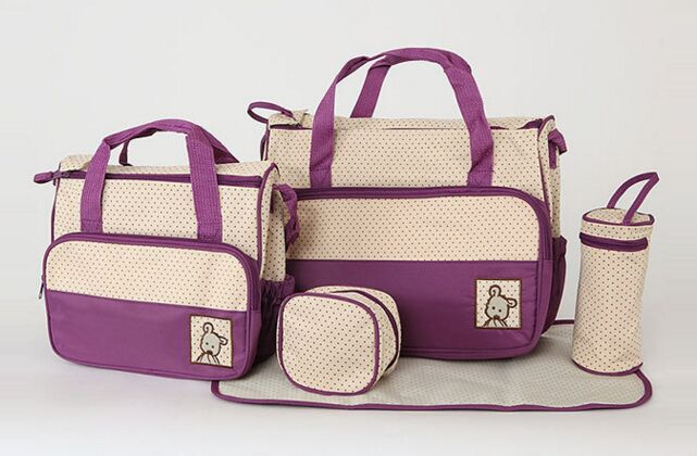 5 pcs/set New 7 colors diaper bag for mommy and baby ...