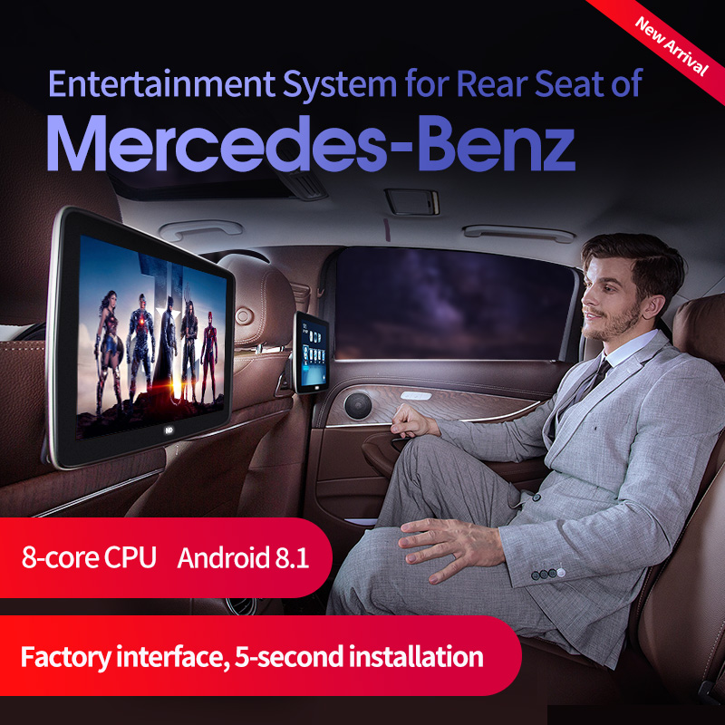 Kopfstütze Monitor für 2020 Mercedes-Benz GLS GLE V-Klasse C260 C300 S320 CLS63 Wagon display Android 8,1 audio player Auto <font><b>TV</b></font> image