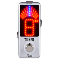 Mini Chromatic Tuner Pedal Effect LED Display True Bypass For Guitar Bass
