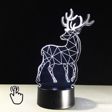 3D LED Deside Animal Deer  DESK Or Night Light USB Control Touch Switch Tabel Desk Lamp Best Gift For Child Kid