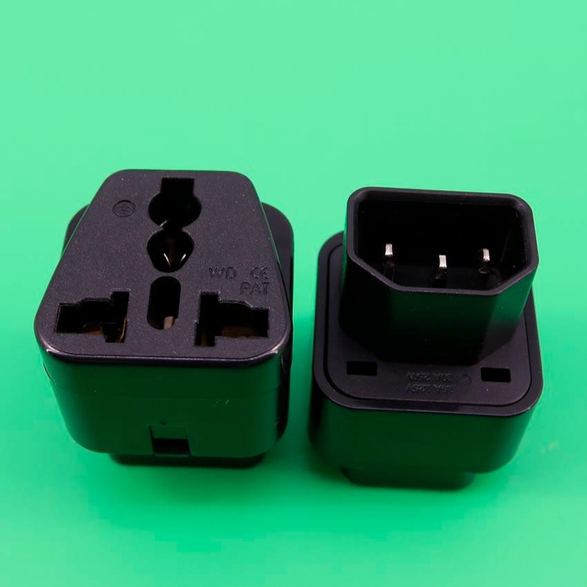 YuXi International Brand Computer Plug Adapter IEC 320 C13 to C14 Power PDU Plug Worldwide Converter Socket iec320 c14 to c5 pdu ups plug female power adapter plug converter c6 to c13 changer