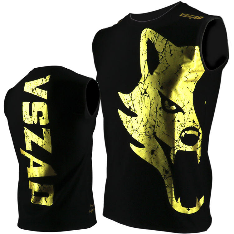 VSZAP GIANT Sleeveless MMA Combat Vest T-shirt Muay Thai Boxing Fitness Wulin Wind UFC Male Combat Sports Training
