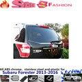 Для Su6aru Forester 2013-2016 крышка автомобиля детектор из нержавеющей стали Задняя дверь Багажника Двери Задка лицензия рамки пластины отделка рамки 1 шт.