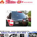 For Su6aru Forester 2013-2016 car cover detector stainless steel Rear door Trunk license Tailgate frame plate trim frame 1pcs