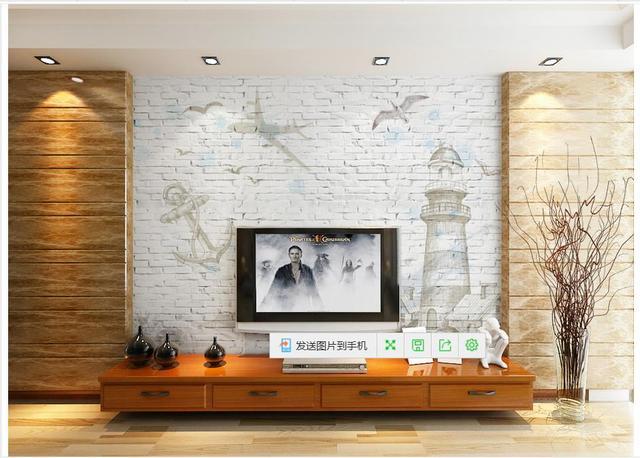 Benutzerdefinierte 3d Fototapeten Für Wände 3 D Wandmalereien Tapete China  Sea Leuchtturm Weiße Ziegel Hintergrund Wand