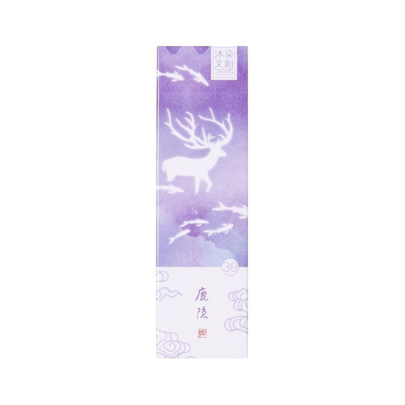 Купить с кэшбэком 30pcs/box kawaii Student Bookmarks Creative life dream watercolor DIY gift blessing card Stationery Gift Bookmarks School Supply