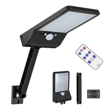 48 LED Solar Powered Street Light remote control rotate bracket solar street light Newest PIR Motion Sensor Lamps Garden Securit