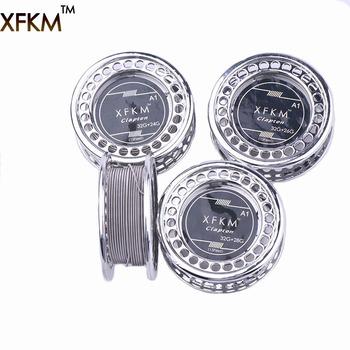 XFKM 5 m rolka przewód grzejny Clapton dla E papierosa RDA RBA RTA cewka rozpylacza wstępnie zbudowane cewki grzałka Clapton A1 tanie i dobre opinie Rebuildable Atomizer Clapton Wire Metal 0 2mm*0 32mm 0 2mm*0 4mm 0 2mm*0 51mm