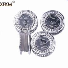 Xfkm 5 м/roll Клэптон Провода нагрева Провода для электронной сигареты RDA РБА RTA распылитель катушки предварительно созданные катушки Клэптон нагрева Провода A1