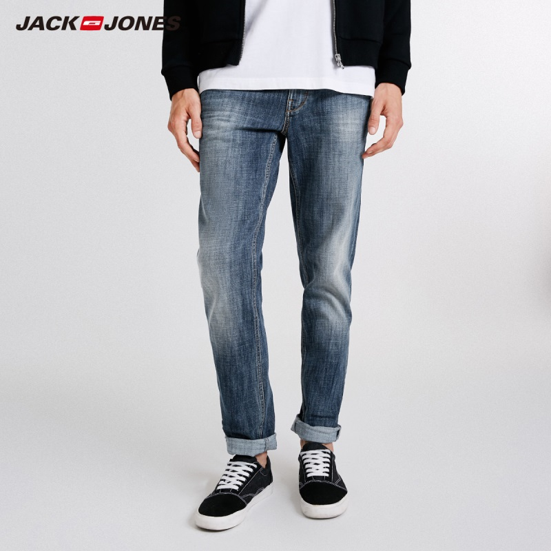 JackJones Men's Casual   Jeans   Slim Fit Casual Denim Pants Skinny   Jeans   Clubwear Winter Classic Trousers J|218332547