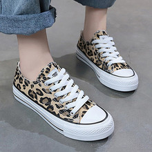 Women Shoes Leopard Canvas Shoes 2019 Ne