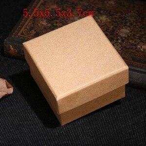 Image 5 - 2019 새로운 20 개/몫 브라운 크래프트 종이 보석 상자 선물 패키지 상자 주최자 매력 반지 시계 귀걸이 보석 상자 도매