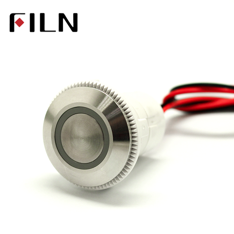 22mm Stainless Steel anti front IP68 2NO v 5v 6v 12v 24v Ring LED push button switch with wire leads22mm Stainless Steel anti front IP68 2NO v 5v 6v 12v 24v Ring LED push button switch with wire leads