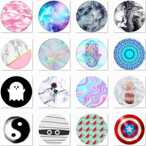 Marble Phones Ring Stand Flexible Air Bag Cover Phone Case Phone Holder