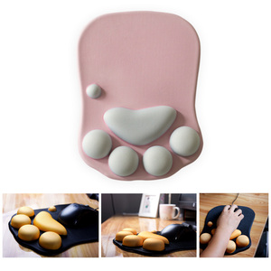 Image 1 - 3D Cute Mouse Pad Anime Soft Cat Paw Mouse Pads Wrist Rest Support Comfort Silicon Memory Foam Gaming Mousepad Mat