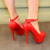 Mujeres Bombas de tacón de Aguja Delgada Punto De Tacón Bombas Plataforma Punta Redonda de Charol Vestido de Partido Nupcial de La Boda de Tacón Alto Zapatos de Las Señoras