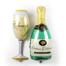 2 шт./лот новый шампанское чашка бутылку пива шары алюминиевой фольги воздушный шар гелия баллоны на день рождения свадьба шары ну вечеринку декор