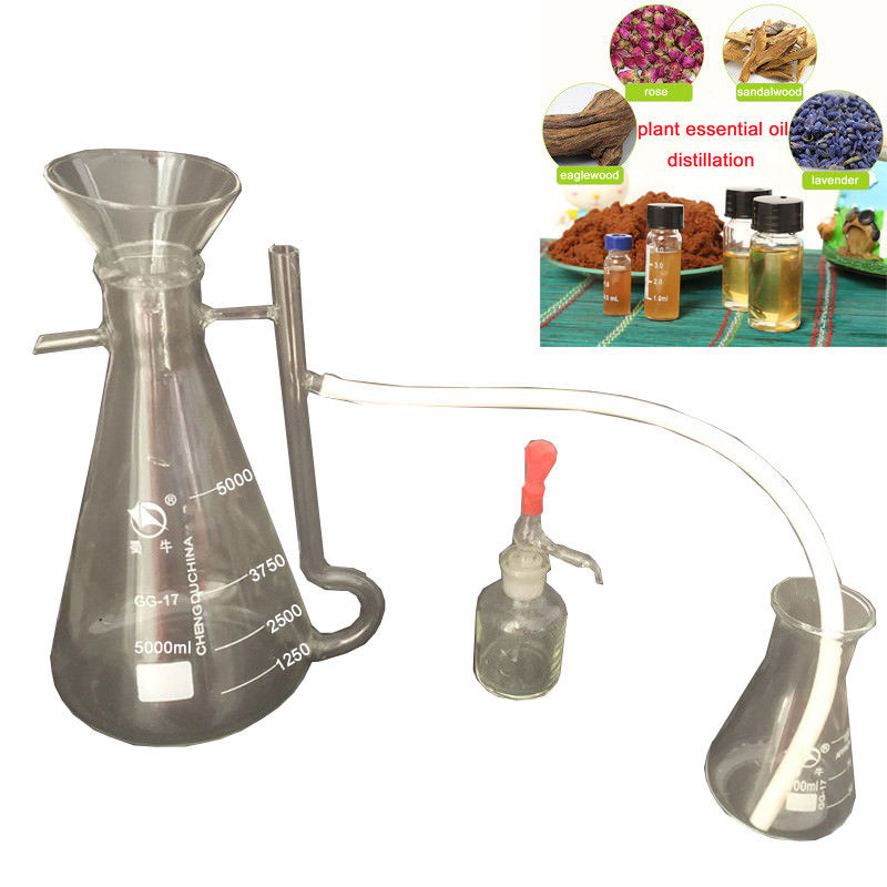 250ml 5000ml New Home/Lab Lavender Rose Plant Pure Water Essential Oil Dew Separator Collector Bottle Glassware Kits