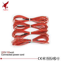 6K 7meter 98w 220V 66ohm Infrared Heating Floor Heating Cable System Of 1 6mm PTFE Carbon